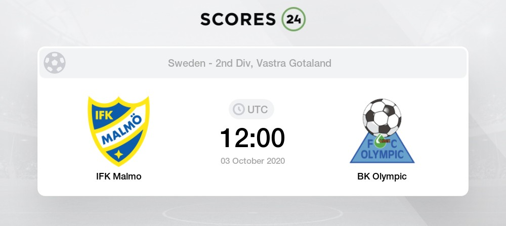Ifk Malmo Vs Bk Olympic 3 October 2020 Soccer