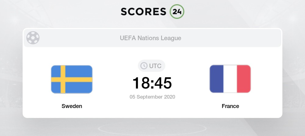 Sweden Vs France 5 September 2020 Soccer