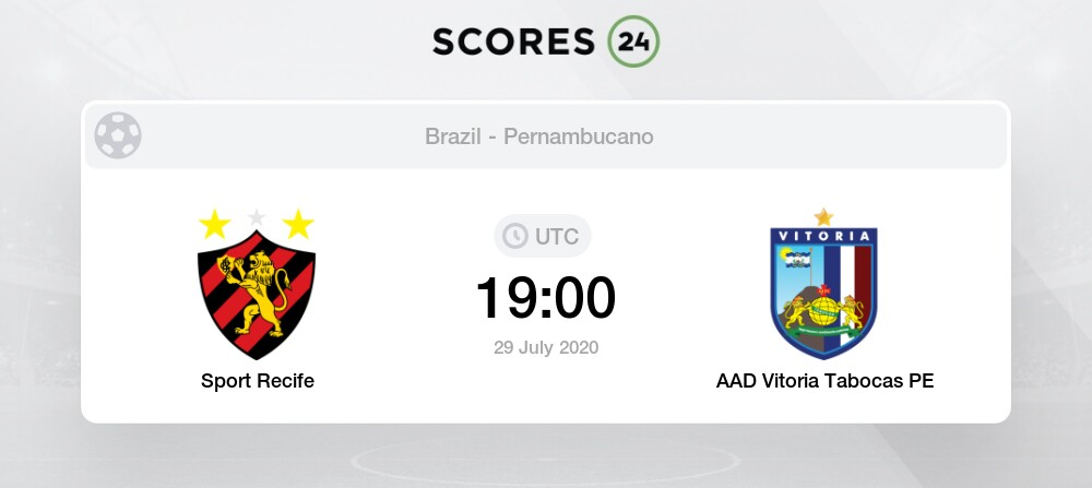 Sport Recife Vs Vitoria Pe 29 July 2020 Soccer