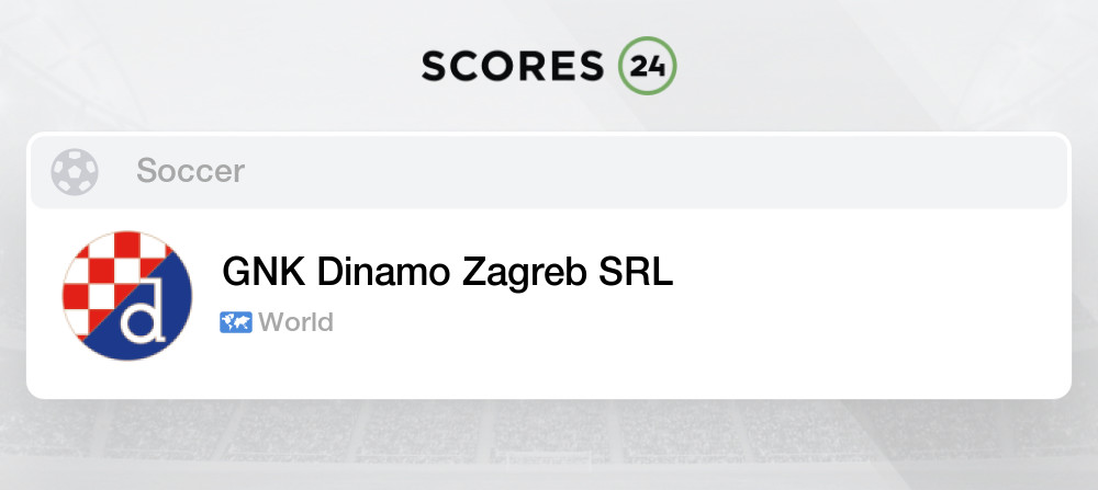 Gnk Dinamo Zagreb Srl Soccer News Results And Games Schedule