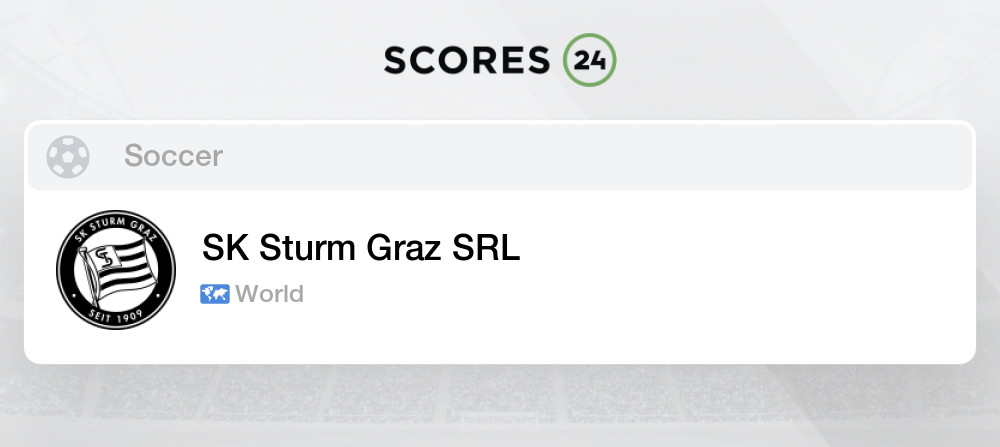 Sk Sturm Graz Srl Soccer News Results And Games Schedule